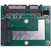 Hillrong - Tarjeta adaptadora de 5 cm de Altura Media mSATA Mini PCI-e SSD a SATA A3 DE 2,5 Pulgadas