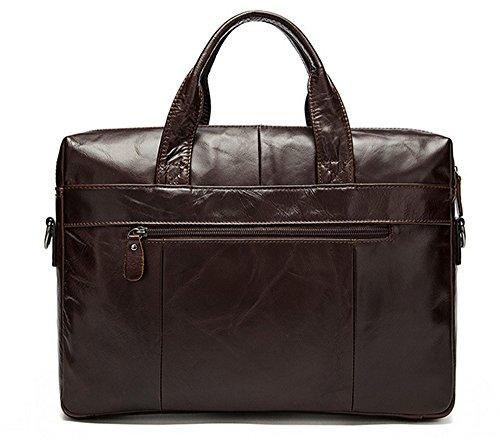 Xinmaoyuan uomo Borse uomo Borsa Vera Pelle Business Casual valigetta di spalla,marrone Il caffè