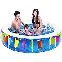 Jilong Giant Rainbow Pool - transparent children´s pool with rainbow design on inside, ø190 x 50cm