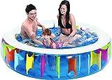 Jilong Rainbow Pool Ø 190 x 50 cm Kinderpool Planschbecken Schwimmbecken Kinder Schwimmbad für...