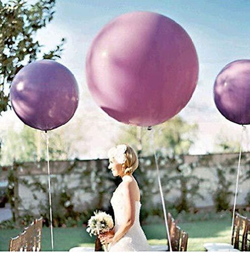 Doitsa 1pcs 36Zoll Runde Ballons Extra große und Dicke Ballons Wiederverwendbare Riesen Latex Ballons für Hochzeit Geburtstag Weihnachten Dekorationen(Lila)