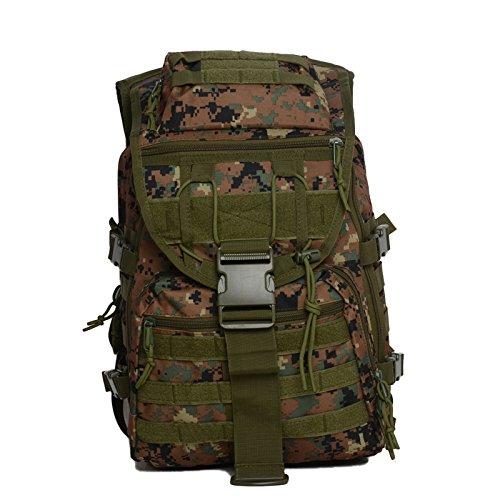 Mefly Gli Sport Outdoor Zaini Campeggio Zaini Alpinismo Borse Tactical Camouflage Computer Sport Jungle Digital Jungle camouflage