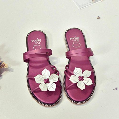 DM&Y 2017 Molla e testa di pesce femmina moda estiva sandali flat scarpe due indossare sandali da donna casuali Red