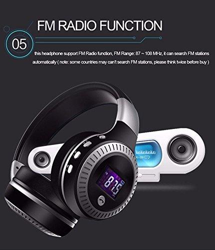 Longteng Zealot Wireless Bluetooth Headset Noise Cancellation 3D Stereo LCD Kopfhörer. Schwarz - 5