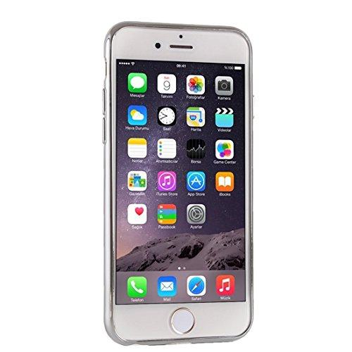 Phone case & Hülle Für iPhone 6 Plus / 6s Plus, Gitter Textur Galvanotechnik TPU Schutzhülle ( Color : Silver ) Silver