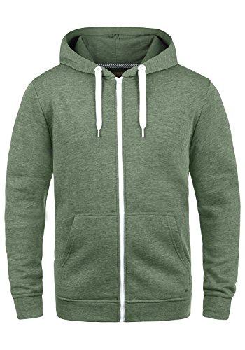 Solid Hoodie Sweatshirt (!Solid Olli ZipHood Herren Sweatjacke Kapuzenjacke Hoodie Mit Kapuze Reißverschluss Und Fleece-Innenseite, Größe:L, Farbe:Climb Ivy Melange (8785))
