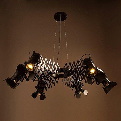 OLQMY-Lampadari in ferro d'epoca illuminazione telescopica