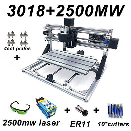 Laser-carving-messer (Carving Maschine CNC 3018 Fräsmaschine Arbeitsbereich 300 * 180 * 45mm DIY CNC Router Maschine GRBL Control 3 Achsen Mini Holz PCB Acryl Fräsmaschine Metall Gravur)