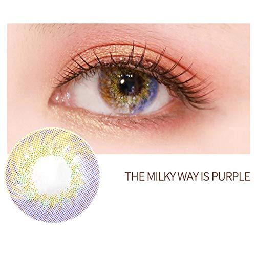 n - 1 Paar (2 Stück) 4 Farben großes Auge Kontaktlinsen mit - 1 Jahr - Farbwechsel der Augenfarben, Cosplay, Halloween Party etc. (ohne Stärke) ()