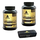 Peak Vitamins A-Z, 480 Tabs, 2er Pack (2 x 180g = 360g) + Pillendose