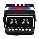 MagiDeal Kinder Akkordeon Ziehharmonika Musikinstrument Spielzeug (ab 3 Jahre) - Schwarz