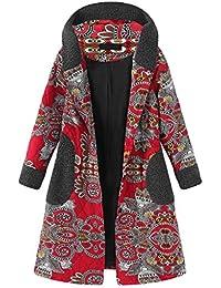 Luckycat Abrigo Invierno Mujer, Invierno de algodón Suelto cálidos Bolsillos Estampados más Gruesas Cerrojo de