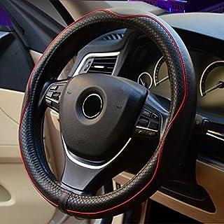 Plat Firm 38cm Durchmesser Luxus PU Leder Auto Lenkradabdeckung Autozubehör