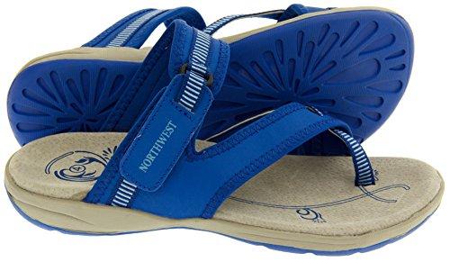 Northwest Territory Miami Damen Leder Strand Wandern Sandale Blau