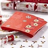 Servietten Weihnachten Rudolph Rentier 20 Stück - Advent Papierservietten Weihnachtsfeier Deko Servietten Rudolph Rentier