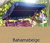 Sonnendach, Schaukeldach, Ersatzdach Hollywoodschaukel, nach Maß passt überall verschiedene Farben (mit umnähten Kanten) (bahamabeige)