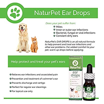 NaturPet Ear Drops | Natural Ear Infection Medicine For Dogs | Dog Ear Cleaner | Cat Ear Cleaner | Helps with Wax, Yeast, Itching & Unpleasant Odors 2