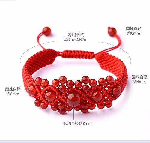 Seil Hand - Kette Rote Agate Hand Stricken Seil Umladen Perlen Und Verzierungen Männer Und Frauen (Gold-seil-kette Männer)