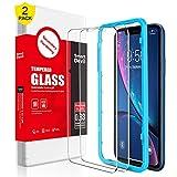 SMARTDEVIL [2 Stück für iPhone XR Panzerglas Schutzfolie,mit Positionierhilfe, 9H Härte,...