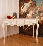 Königlicher Schreibtisch, Computertisch, Schreibmöbel, Sekretär, Arbeitstisch, Tisch aus Holz im angesagten Vintage-Stil in Weiß - Palazzo Exclusive
