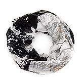 MANUMAR Loop-Schal für Damen   Hals-Tuch in schwarz mit Sterne Motiv als perfektes Herbst Winter Accessoire   Schlauchschal   Damen-Schal   Rundschal   Geschenkidee für Frauen und Mädchen