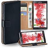 moex Samsung Galaxy Note 3 | Hülle Schwarz mit Karten-Fach 360° Book Klapp-Hülle Handytasche Kunst-Leder Handyhülle für Samsung Galaxy Note 3 Case Flip Cover Schutzhülle Tasche