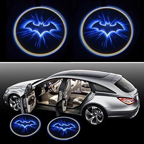 Preisvergleich Produktbild bestmay blau Fledermaus Batman Logo 2 Wireless Car LED Tür Projektor Ghost Shadow Light New