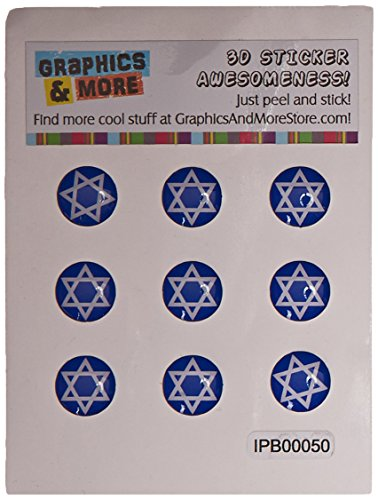Star Of David–Jüdische–Home Knopf, Aufkleber Apple iPhone (3G, 3GS, 4, 4S, 5, 5C, 5S), iPad (1, 2, 3, 4, Mini), iPod Touch (1, 2, 3, 4, 5) (Aufkleber Jüdische)