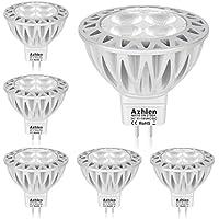 Azhien MR16 GU5.3 LED Lampen 12V 5W Warmweiß, GU 5.3 Spot, ersetzt 20W-50W Halogenlampen, Hohe Helligkeit, Kein Flimmern, 400LM, 36 Grad, 2700 Kelvin, 6er Pack