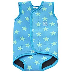 Splash About Baby Wrap Neoprene Wetsuit - Blue Stars, Small, 0-6 Months