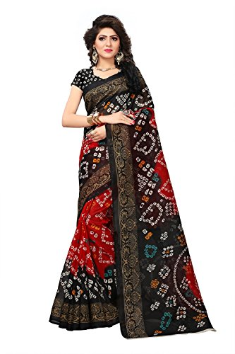Fashion and Hub Women's Party Wear Printed Cotton Silk Saree With Blouse...
