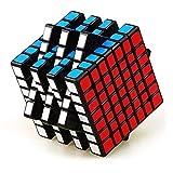 JIAAE 7X7 Rubik'S Cube Competencia Profesional Smooth Rubik Puzzle para Niños Juguete De Alta Dificultad,Black