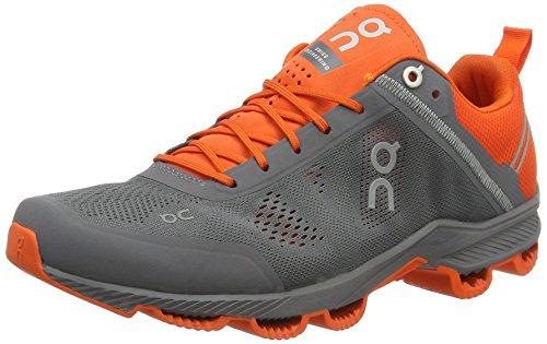 On Running Herren Cloudsurfer Rock/Orange M 10.5 Laufschuhe, Grau (Rock/Orange), 44.5 EU (Rock Sport Running Rock)