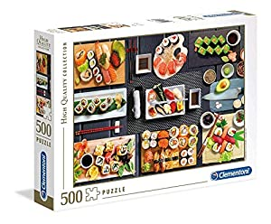 Clementoni Collection puzzle-sushi-500 Unidades, Multicolor, 35064