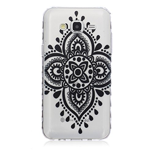 Samsung J5 (2015) Silicone Housse,Samsung J5 Case - Felfy Clair Ultra mince Slim Coque Pour Samsung Galaxy J5 Don't Touch My Phone Gel Souple Soft Flexible TPU Silicone Etui Protective Bumper Cas Cove Chinese Knot