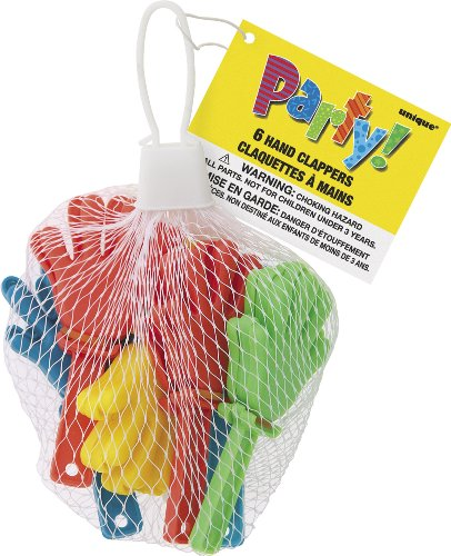 Unique Party Supplies Mini Klatschhände, Tütenfüller, 6Stück