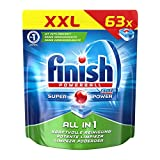 Finish All in 1 Spülmaschinentabs, XXL Pack (1 x 63 Tabs)