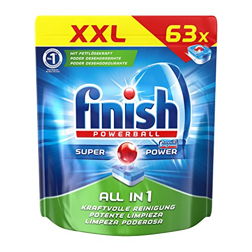 Finish All in 1, Spülmaschinentabs, XXL Pack, 63 Tabs