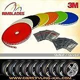 NEU - Rimblades mit 3M Kleber - Singlepackung - Farbe: silber - Premium Felgenschutz und Styling für Alufelgen bis 22'' ~~~~~ schneller Versand innerhalb 24 Stunden ~~~~~