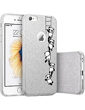 iPhone 6/6S Funda,Silicona Transparente TPU protección case Glitter y Brillante Brillo Carcasa Ultra fino Cubierta...