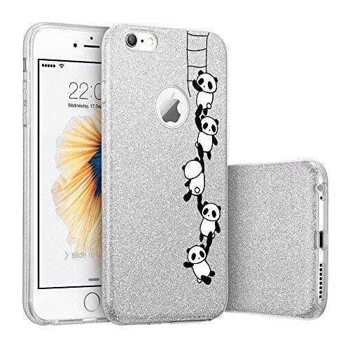 """Coque iPhone 7plus, TPU+PC Protection case pour iphone 7 Étincelant brillamment pour iPhone 6/6s 4.7' y 6plus /6splus 5.5""""Qissy® pande family"""