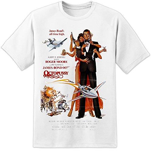 James Bond 007 Octopussy design classico in stile retrò con locandina del film di T-Shirt (s-3xl) Awesome stampa di elevata qualità e