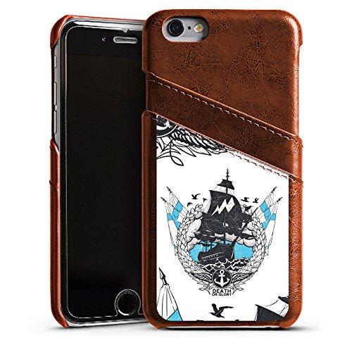 Apple iPhone 4 Housse Étui Silicone Coque Protection Bateau Faire du bateau à voile Navigation Étui en cuir marron