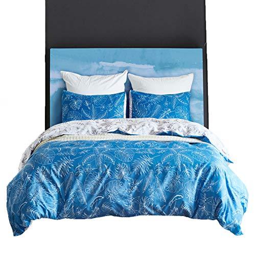 DMMASH Duvet Cover Printed Stripe Bedding Duvet Cover Set Cotton Reversible Duvet Covers Mit 2 Kissen-Gehäuse,Color1,264 * 229 -