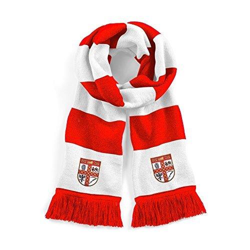 Bufanda de fútbol de Stoke City Años Cincuenta tradicional bordado Logo