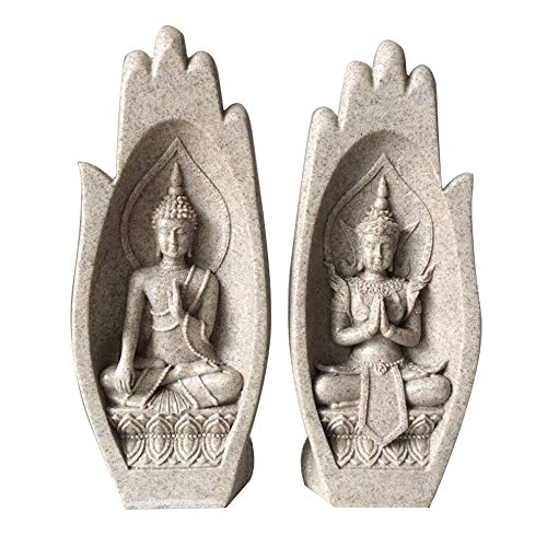 FOREN Sculpture de bergamote en résine de grès, décoration Artisanale créative à la Maison, apportant Richesse et Bonne Chance à la maiso