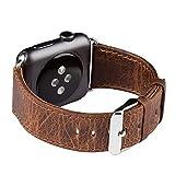 FUTLEX Cinturino per Apple Watch, 40mm/38mm Cinghietta per Il Polso Bracciale Cinturino di Ricambio in Vera Pelle w/Fibbia Classica per Apple Watch Series 1 e 2 e 3 e 4 - Colore caffè