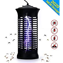 TBOYUAN Bug Zapper, Mosquito Killer, Fly Insect Trap Indoor, Fly Killer, Mosquito Killer Lamp with Brush, Electric Mosquito Trap Indoor for Patio, Bedroom, Kitchen, Office, Child Safe (B)