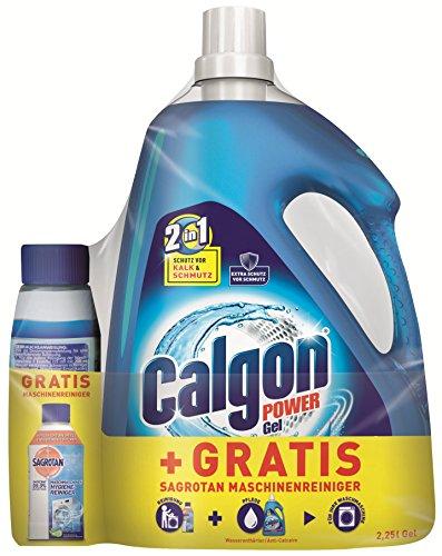 Calgon 2in1 Gel (2,25l) + Sagrotan Waschmaschinen Hygiene-Reiniger (250ml) GRATIS