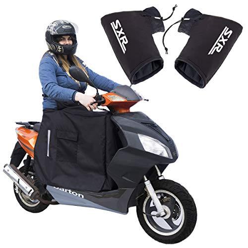 Beinschutz mit Winter-Fleece für Motorroller Roller und Muffs Winter-Motorradhandschuh Gloves Lenkerstulpen Set 2 [088]